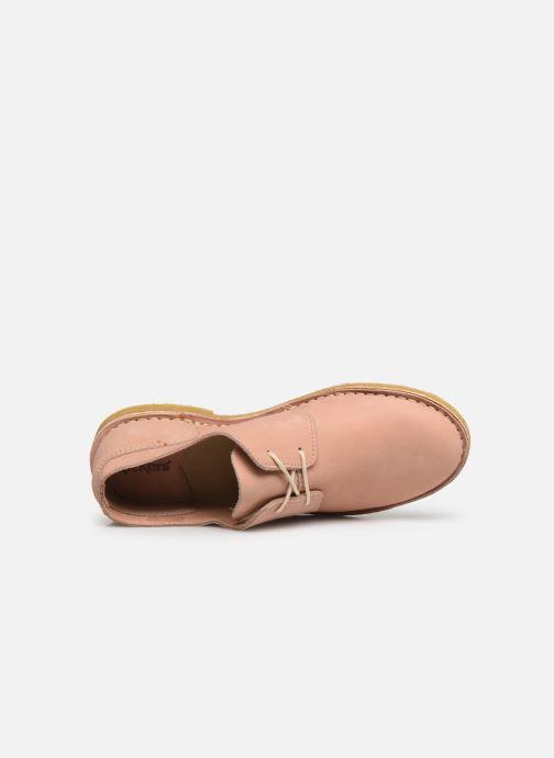 Scarpe con lacci Kickers Talia Rosa immagine sinistra