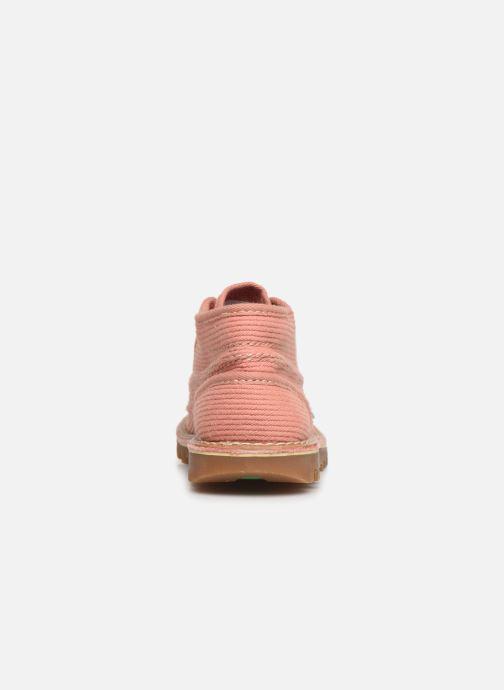 Ankelstøvler Kickers Neotreck Pink Se fra højre
