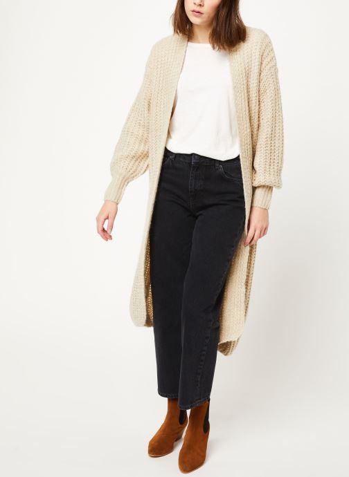 Vêtements MOSS COPENHAGEN Crystal Straight Jeans Noir vue bas / vue portée sac