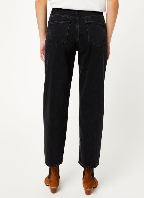 Vêtements MOSS COPENHAGEN Crystal Straight Jeans Noir vue portées chaussures