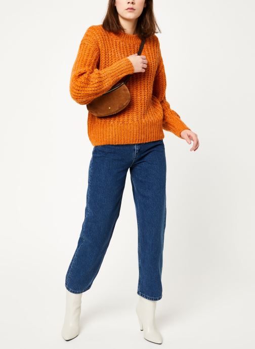 Vêtements MOSS COPENHAGEN Crystal Straight Jeans Bleu vue bas / vue portée sac