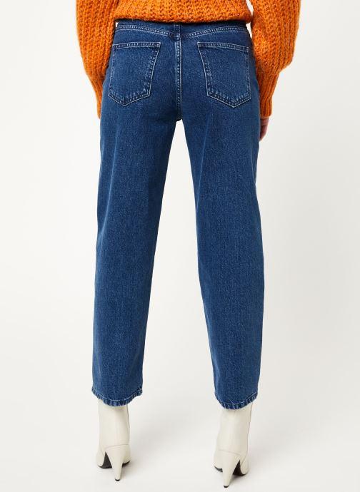 Vêtements MOSS COPENHAGEN Crystal Straight Jeans Bleu vue portées chaussures