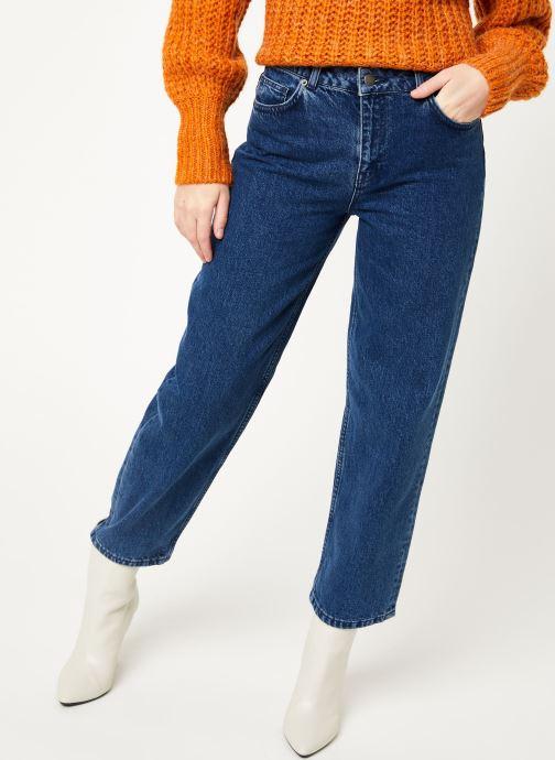 Vêtements MOSS COPENHAGEN Crystal Straight Jeans Bleu vue détail/paire