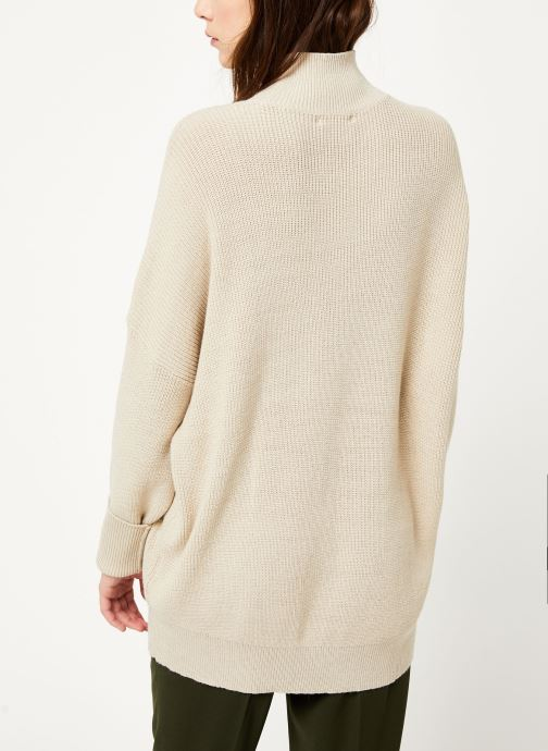 Vêtements MOSS COPENHAGEN Dalina Ls Pullover Blanc vue portées chaussures