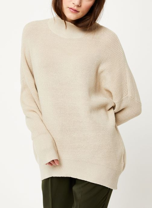 Vêtements MOSS COPENHAGEN Dalina Ls Pullover Blanc vue droite