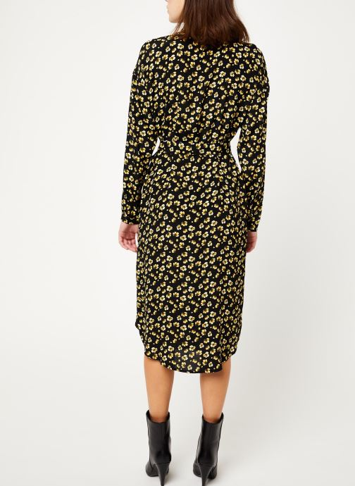 Vêtements MOSS COPENHAGEN Amber Genni Ls Dress Aop Noir vue portées chaussures