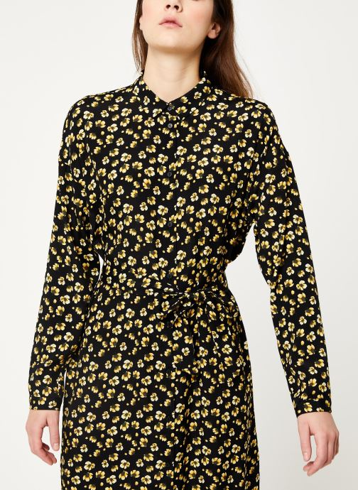 Vêtements MOSS COPENHAGEN Amber Genni Ls Dress Aop Noir vue droite