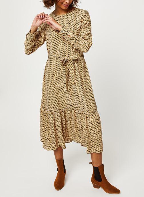 Vêtements MOSS COPENHAGEN Charlotte Morocco Ls Dress Aop Beige vue bas / vue portée sac