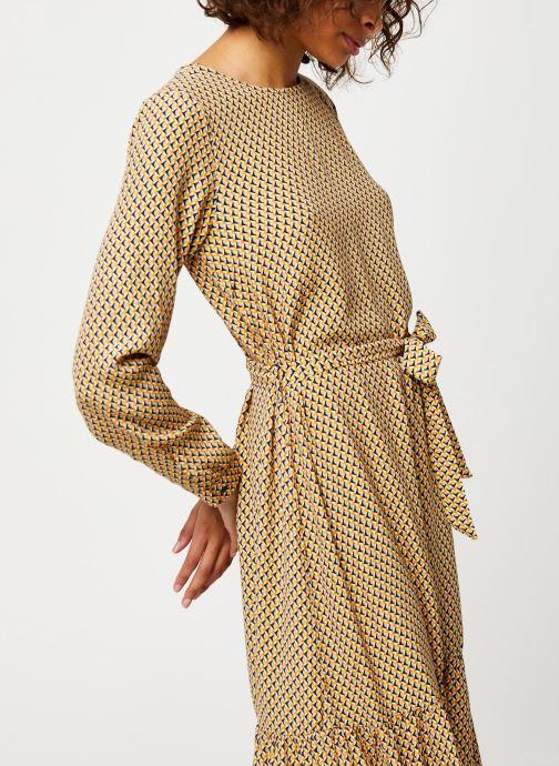 Vêtements MOSS COPENHAGEN Charlotte Morocco Ls Dress Aop Beige vue droite
