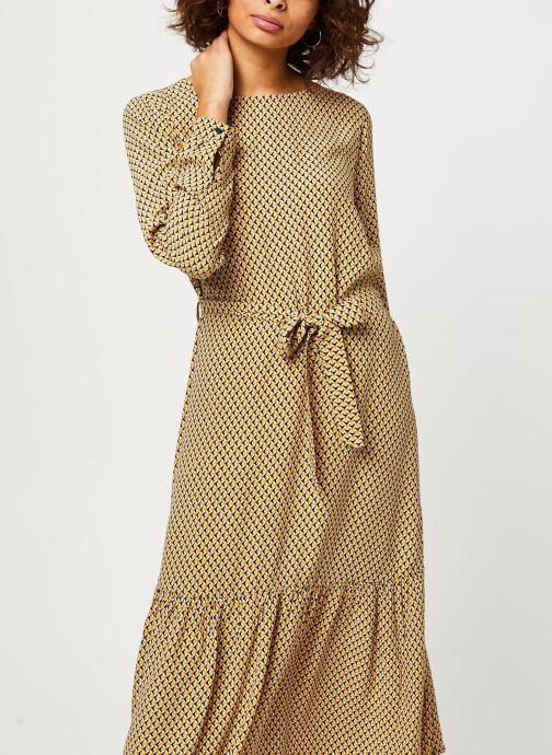 Vêtements MOSS COPENHAGEN Charlotte Morocco Ls Dress Aop Beige vue détail/paire