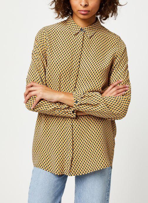 Vêtements MOSS COPENHAGEN Blara Morocco Ls Shirt Aop Beige vue droite
