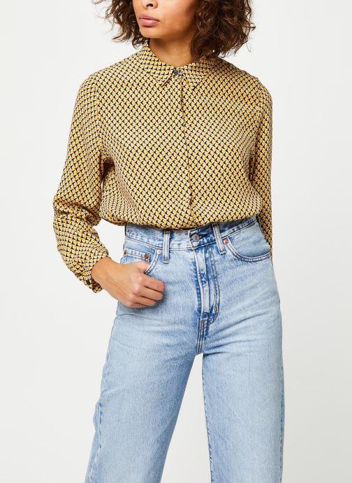 Vêtements MOSS COPENHAGEN Blara Morocco Ls Shirt Aop Beige vue détail/paire