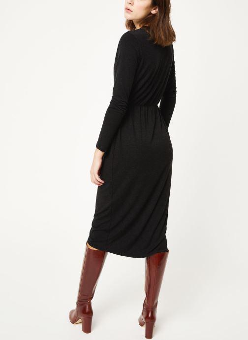 Vêtements MOSS COPENHAGEN Allu Wooltouch Ls Dress Noir vue portées chaussures