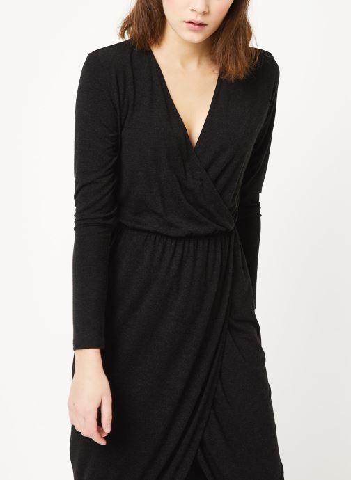 Vêtements MOSS COPENHAGEN Allu Wooltouch Ls Dress Noir vue détail/paire