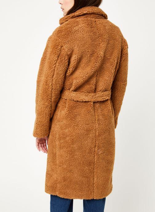 Vêtements MOSS COPENHAGEN Nola Teddy Jacket Marron vue portées chaussures