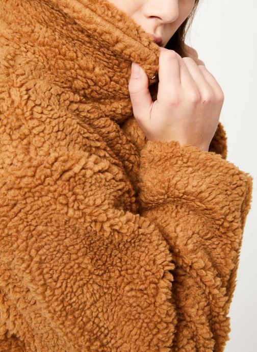 MOSS COPENHAGEN Manteau mi-long - Nola Teddy Jacket (Marron) - Vêtements chez Sarenza (403238)