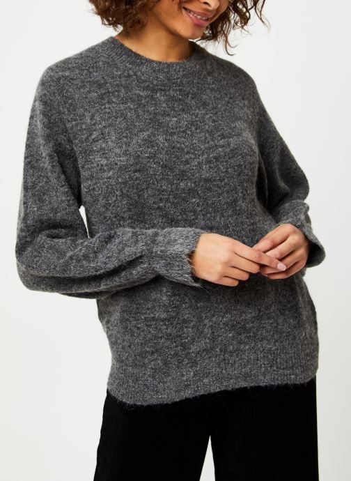 Vêtements MOSS COPENHAGEN Giselle Alpaca Pullover Gris vue droite
