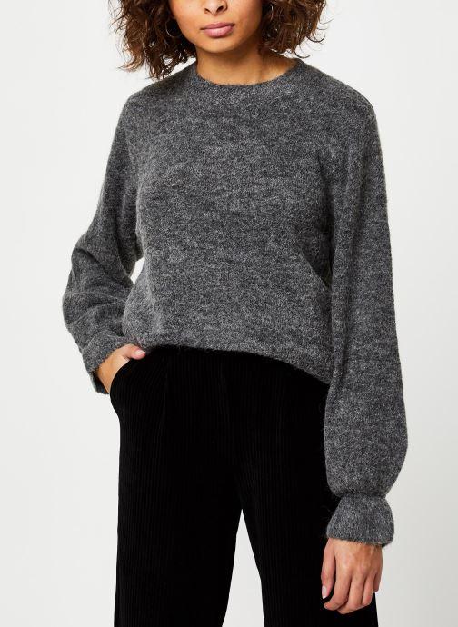 Vêtements MOSS COPENHAGEN Giselle Alpaca Pullover Gris vue détail/paire