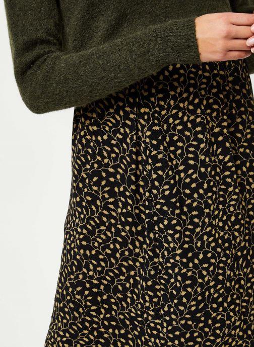 Vêtements MOSS COPENHAGEN Audrina Skirt Aop Noir vue face