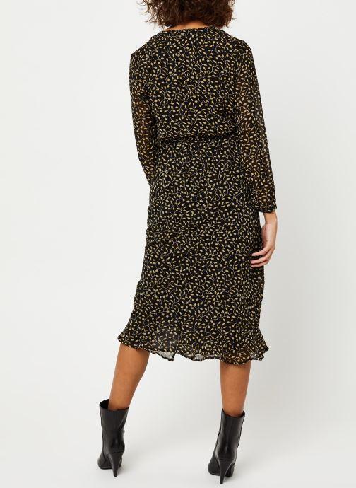 Vêtements MOSS COPENHAGEN Audrina Dress Aop Noir vue portées chaussures