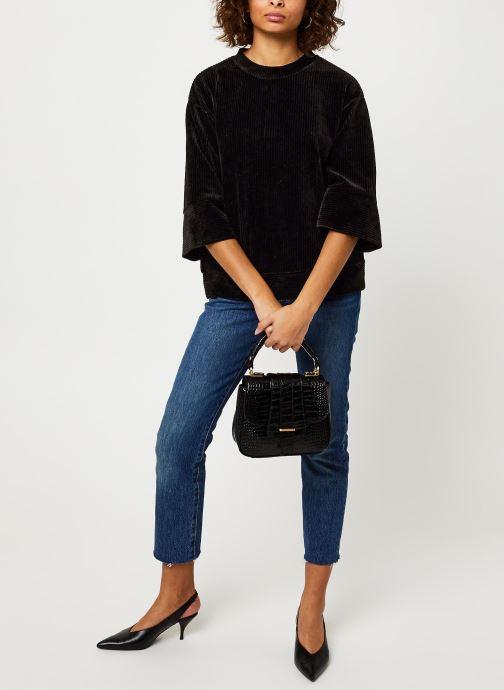 Vêtements MOSS COPENHAGEN Florina Ls Sweat Noir vue bas / vue portée sac