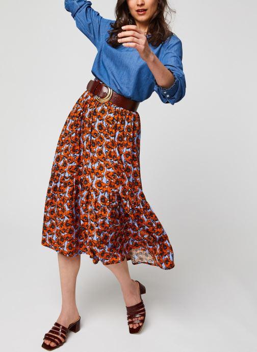 Vêtements MOSS COPENHAGEN Turid Skirt Aop Rouge vue bas / vue portée sac