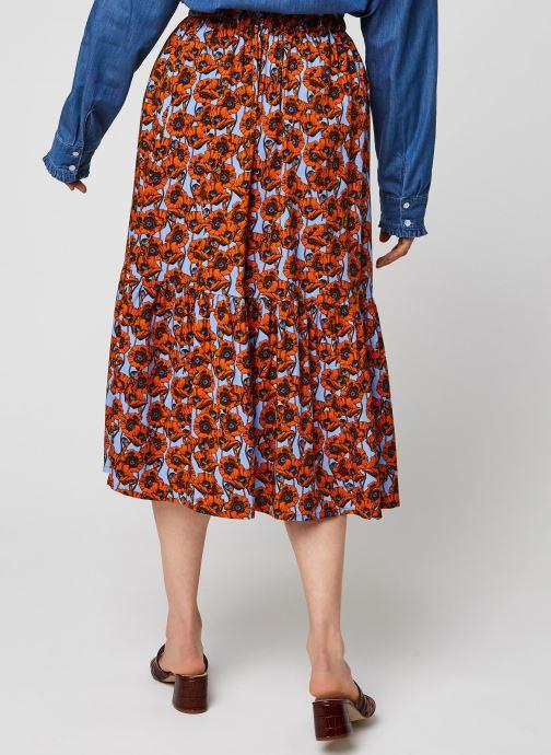 Vêtements MOSS COPENHAGEN Turid Skirt Aop Rouge vue portées chaussures