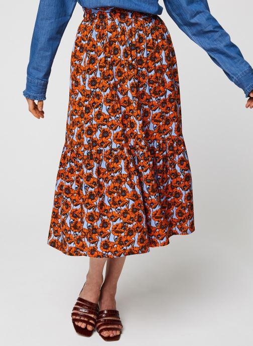 Vêtements MOSS COPENHAGEN Turid Skirt Aop Rouge vue détail/paire