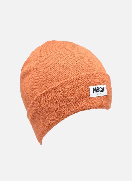 Bonnets MOSS COPENHAGEN Mojo Beanie Orange vue détail/paire