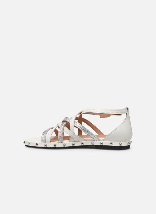 Sandales et nu-pieds Geox D KOLLEEN B D925SB Blanc vue face
