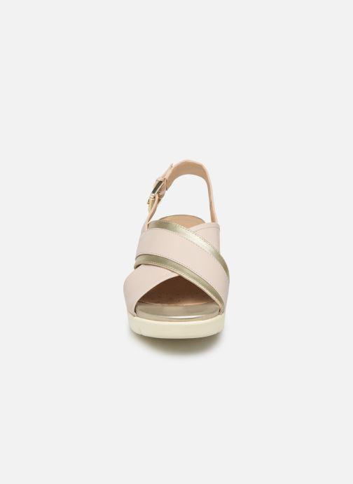 Sandales et nu-pieds Geox D MARYKARMEN P D928AB Or et bronze vue portées chaussures