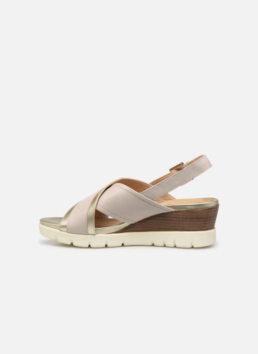 Sandales et nu-pieds Geox D MARYKARMEN P D928AB Or et bronze vue face
