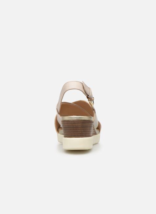 Sandales et nu-pieds Geox D MARYKARMEN P D928AB Or et bronze vue droite