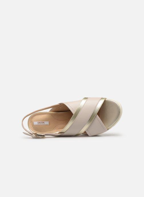 Sandales et nu-pieds Geox D MARYKARMEN P D928AB Or et bronze vue gauche
