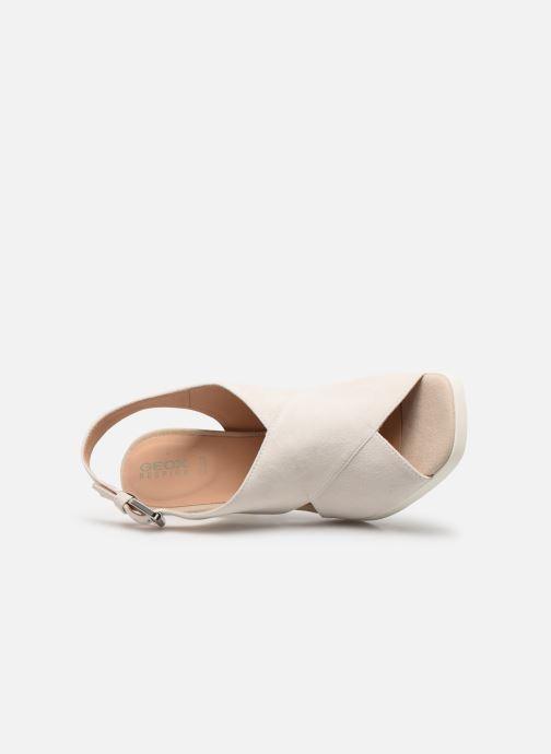 Sandales et nu-pieds Geox D JENIEVE D D92CDD Blanc vue gauche