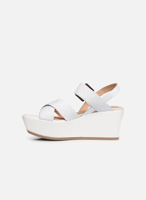 Sandales et nu-pieds Geox D ZERFIE E D92CEE Blanc vue face