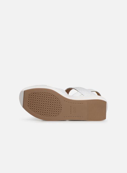 Sandales et nu-pieds Geox D ZERFIE E D92CEE Blanc vue haut