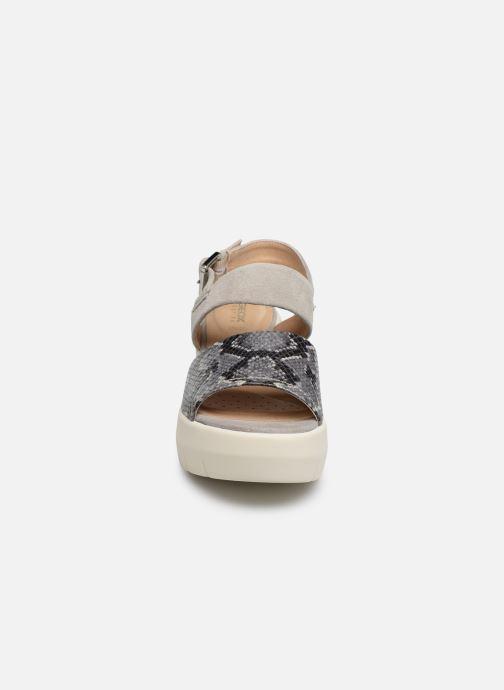 Sandales et nu-pieds Geox D TORRENCE A D92CPA Gris vue portées chaussures