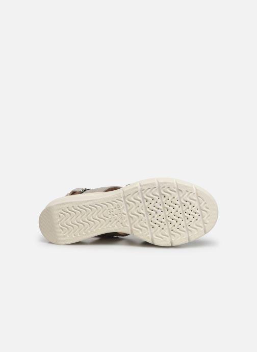 Sandales et nu-pieds Geox D TORRENCE A D92CPA Gris vue haut