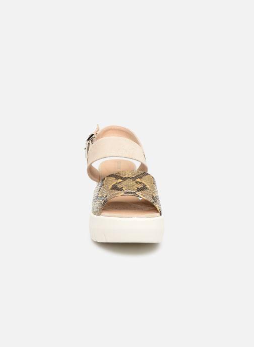 Sandales et nu-pieds Geox D TORRENCE A D92CPA Or et bronze vue portées chaussures
