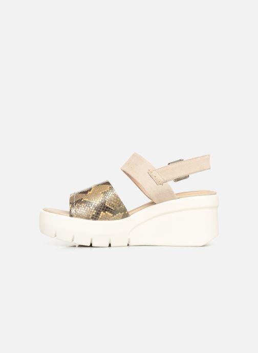 Sandales et nu-pieds Geox D TORRENCE A D92CPA Or et bronze vue face
