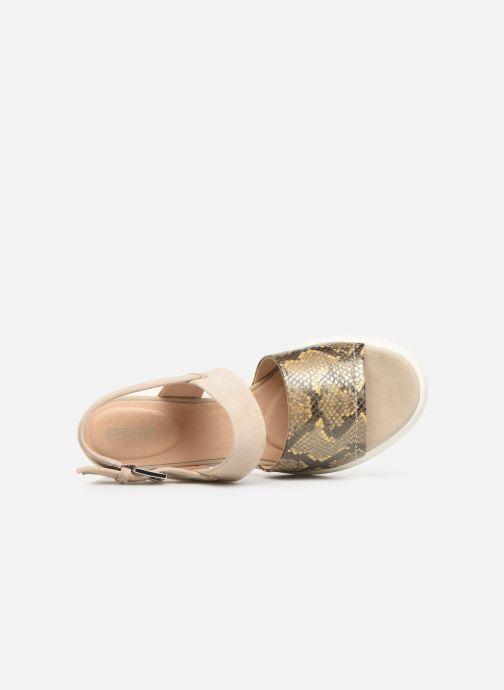 Sandales et nu-pieds Geox D TORRENCE A D92CPA Or et bronze vue gauche