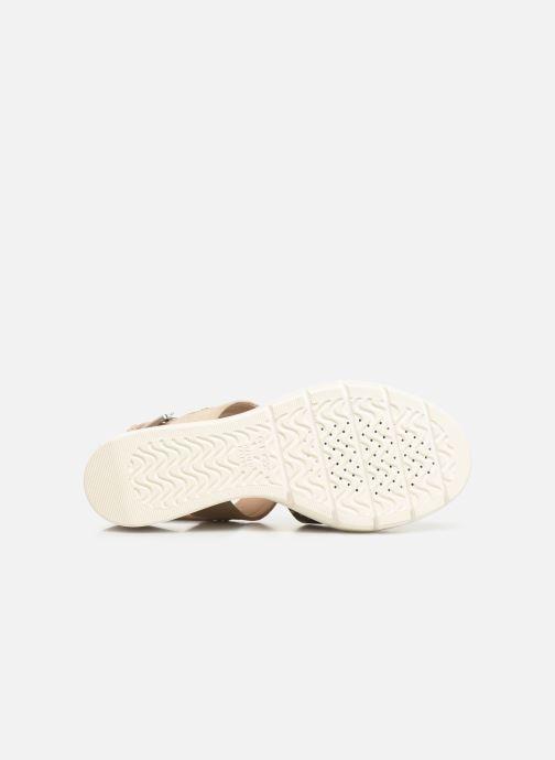 Sandales et nu-pieds Geox D TORRENCE A D92CPA Or et bronze vue haut