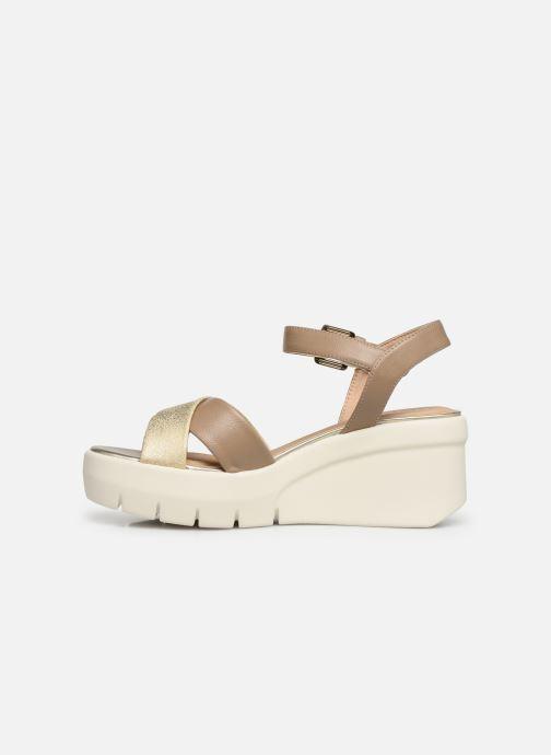 Sandales et nu-pieds Geox D TORRENCE B D92CPB Or et bronze vue face