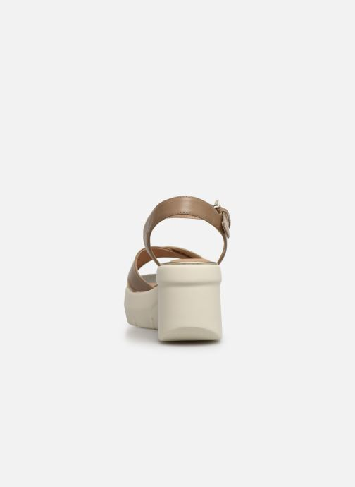 Sandales et nu-pieds Geox D TORRENCE B D92CPB Or et bronze vue droite