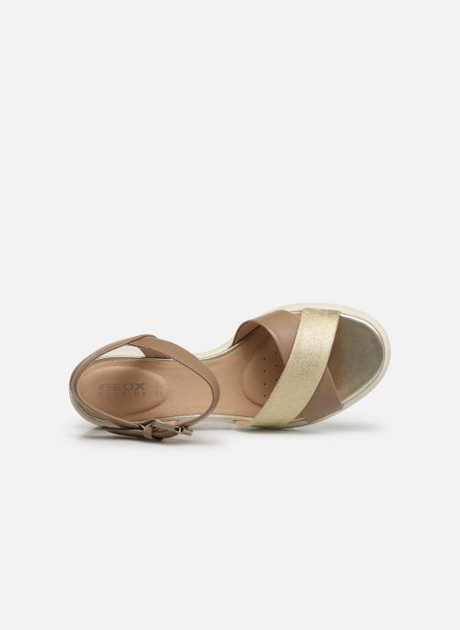 Sandales et nu-pieds Geox D TORRENCE B D92CPB Or et bronze vue gauche