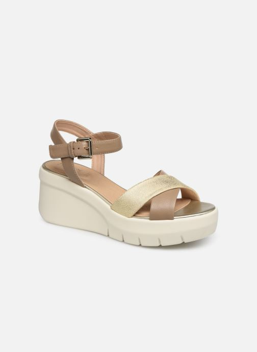 Sandales et nu-pieds Geox D TORRENCE B D92CPB Or et bronze vue détail/paire