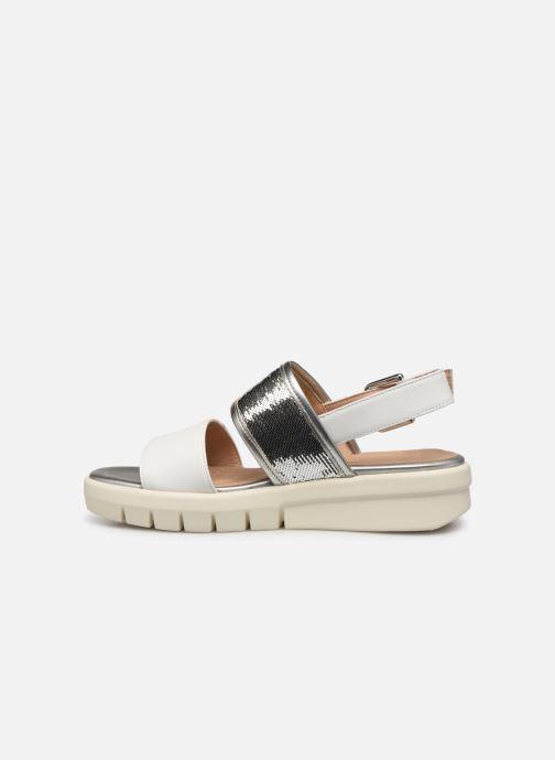 Sandales et nu-pieds Geox D WIMBLEY SAND A D92DPB Blanc vue face