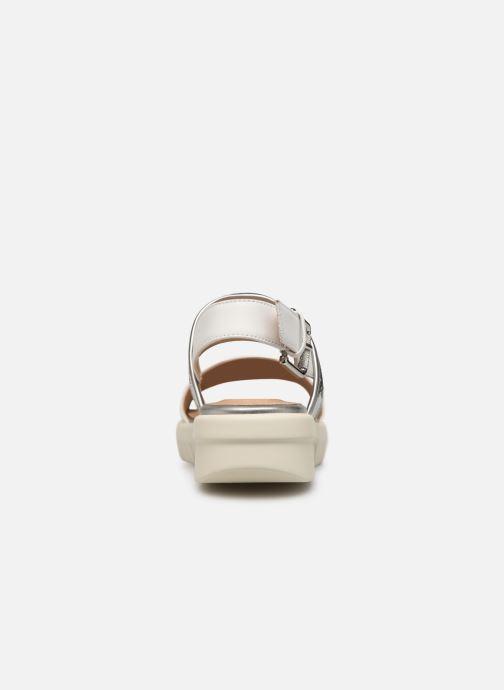 Sandales et nu-pieds Geox D WIMBLEY SAND A D92DPB Blanc vue droite