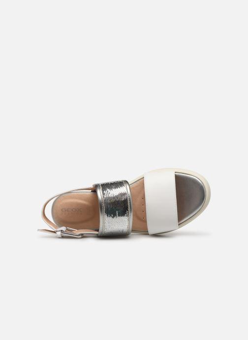 Sandales et nu-pieds Geox D WIMBLEY SAND A D92DPB Blanc vue gauche